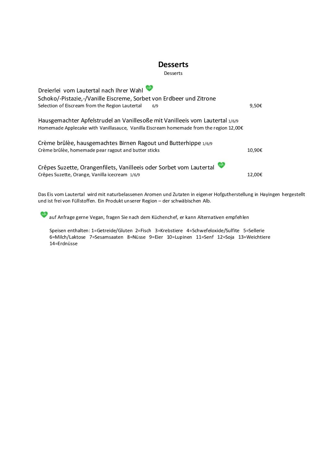 Speisekarte Seite 3